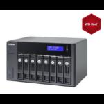 QNAP UX-800P 32TB (8x4TB WDRED) Expnsion