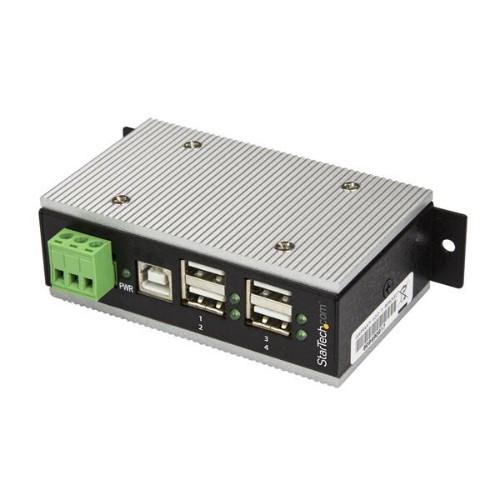 StarTech.com 4-Port Industrial USB Hub - USB 2.0 - 15kV ESD Protection