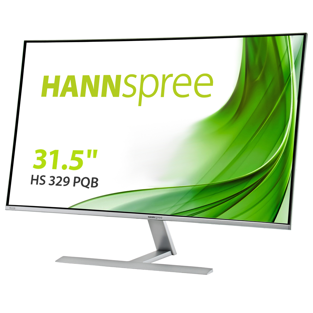 "Hannspree HS 329 PQB LED display 80 cm (31.5"") 2550 x 1440 pixels Quad HD Flat Aluminium,Black"