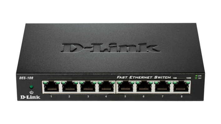 D-Link DES-108 switch No administrado Fast Ethernet (10/100) Negro