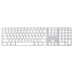 Apple Keyboard with Numeric Keypad USB QWERTZ Danish White keyboard
