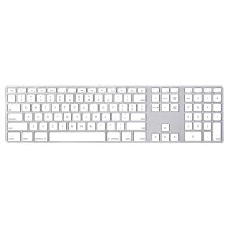 Apple Keyboard with Numeric Keypad USB QWERTZ Danish White keyboard