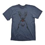 OVERWATCH Men's Widowmaker Tattoo T-Shirt, Medium, Navy Blue (GE1881M)