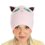 Pokémon Jigglypuff with Ears Cuffless Beanie Hat, One Size, Pink (KC1TEVPOK)
