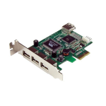 StarTech.com 4-poort PCI Express Low Profile High Speed USB-kaart