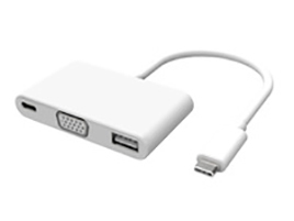 Microconnect 0.2m USB C - USB/VGA/USB USB graphics adapter White