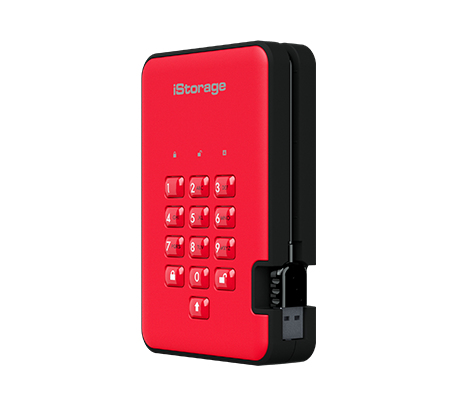 iStorage diskAshur 2 external hard drive 3000 GB Red