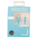 Urban Factory Cable USB to Lightning MFI certified - Blue 1m (retail packaging) CID33UF
