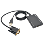 Tripp Lite VGA to HDMI Converter / Adapter with USB Audio and Power, 1080p
