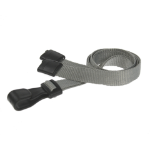 Digital ID Grey Lanyards with Breakaway and Plastic J Clip - Pack of 100