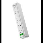 Essential SurgeArrest 5 outlets with 5V, 2.4A 2 port USB Charger 230V UK