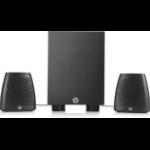 HP 400 2.1channels 8W Black speaker set