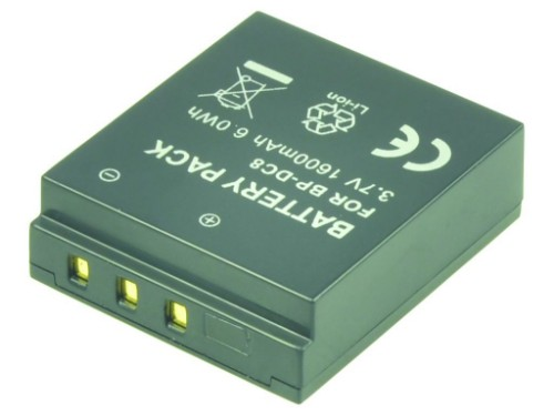 2-Power Digital Camera Battery 3.7V 1300mAh