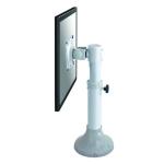 """Newstar Tilt/Turn/Rotate Desk Mount (grommet) for 10-30"""" Monitor Screen, Height Adjustable - Silver"""