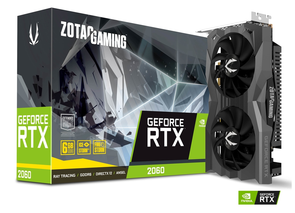 ZOTAC ZT-T20600H-10M GRAPHICS CARD GEFORCE RTX 2060 6 GB GDDR6