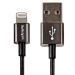 StarTech.com 1 m (3 ft.) USB to Lightning Cable - iPhone iPad / iPod / Charger Cable - Lightning to USB Cable - Apple MFi Certified - Metal - Black