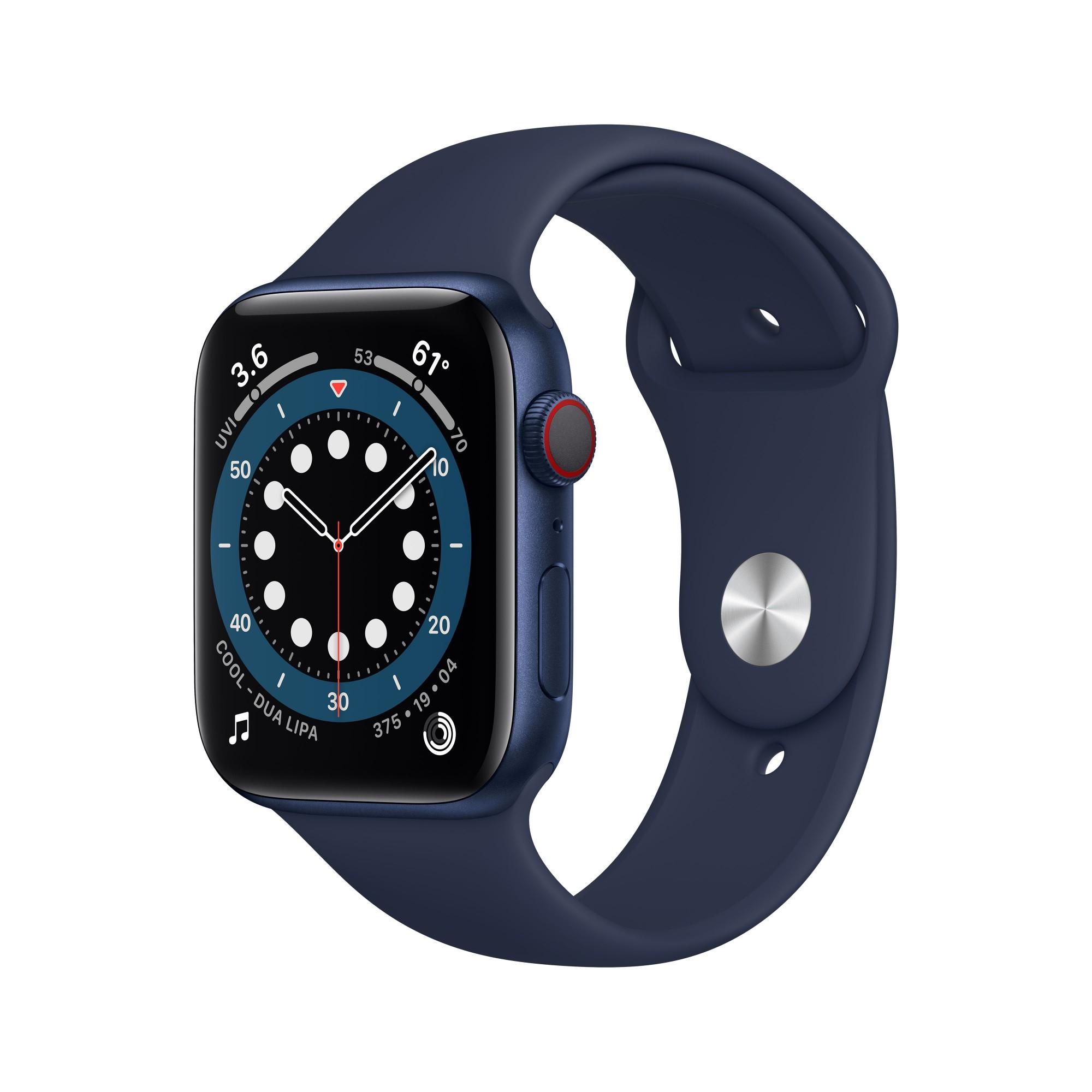 Apple Watch Series 6 44 mm OLED 4G Blue GPS (satellite)