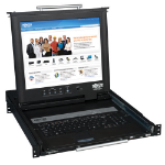 Tripp Lite 1U Rackmount Console with 17-in. LCD, Dual Rail
