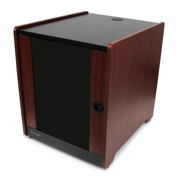 StarTech.com 12U Rack Enclosure Server Cabinet - 20.6 in. Deep - Wood Finish - Flat Pack