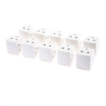SMJ TW3FAD Type G (UK) Type G (UK) White power plug adapterZZZZZ], TW3FAD