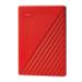 Western Digital My Passport disco duro externo 2000 GB Rojo