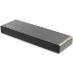 StarTech.com Thunderbolt 3 Dock - Dual 4K 60Hz Monitor TB3 Laptop Docking Station with DisplayPort, HDMI & 1080p VGA - 85W Power Delivery & Charging - 2x USB-A, Ethernet - Mac & Windows