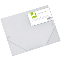 Q-Connect Elasticated Folder A4 Clear