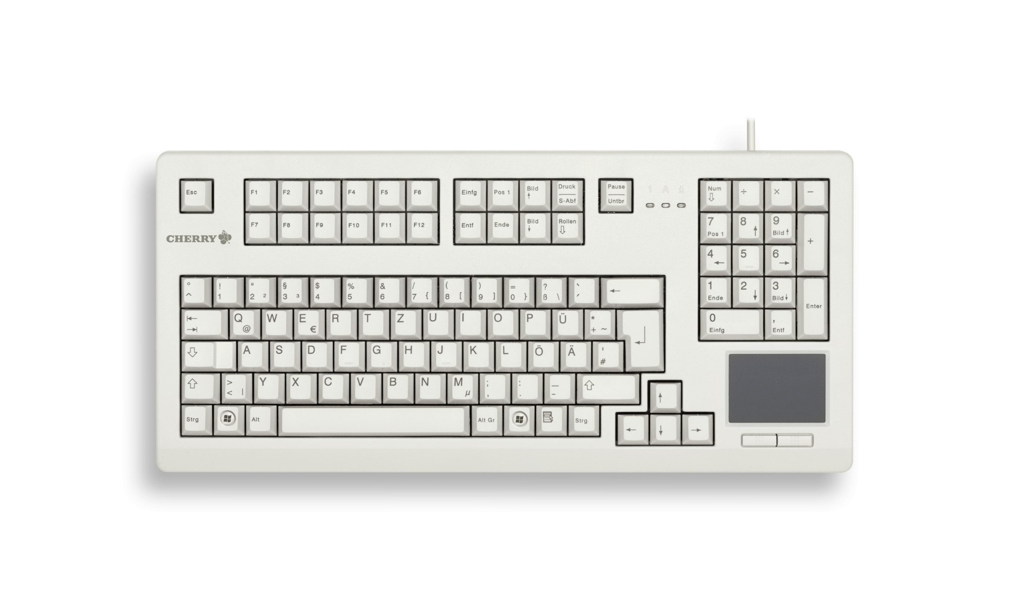 Touchboard G80-11900 Compact Keyboard USB With Integrated Touch Pad QZU/Ge