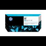 HP 81 Cyan hell DesignJet Druckkopf und Druckkopfreiniger, farbstoffbasiert