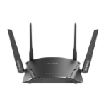 D-Link DIR-1960 wireless router Dual-band (2.4 GHz / 5 GHz) Gigabit Ethernet Black