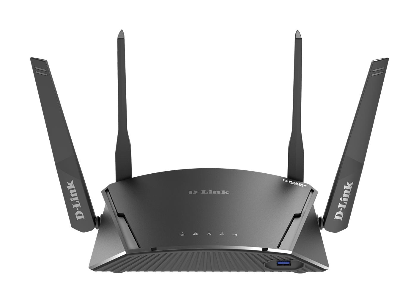 D-Link DIR-1960 router inalámbrico Doble banda (2,4 GHz / 5 GHz) Gigabit Ethernet Negro