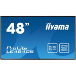 "iiyama ProLite LE4840S-B1 121.9 cm (48"") LED Full HD Digital signage flat panel Black"