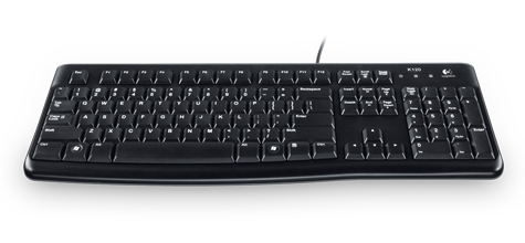 Logitech K120 teclado USB QWERTZ Checa Negro