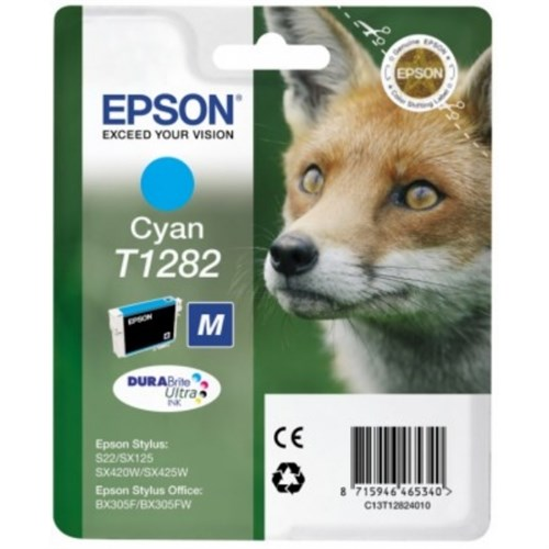 Epson C13T12824012 (T1282) Ink cartridge cyan, 175 pages, 4ml