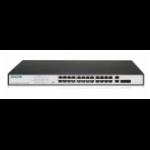 Digitus DN-95343 network switch Unmanaged Fast Ethernet (10/100) Black, Silver 1U Power over Ethernet (PoE)