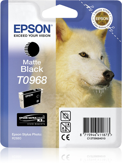 Epson Husky Cartucho T0968 negro mate