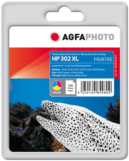 AgfaPhoto APHP302XLC ink cartridge Cyan, Magenta, Yellow
