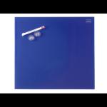 Nobo Diamond Glass Board Magnetic Blue 450x450mm Retail Pack