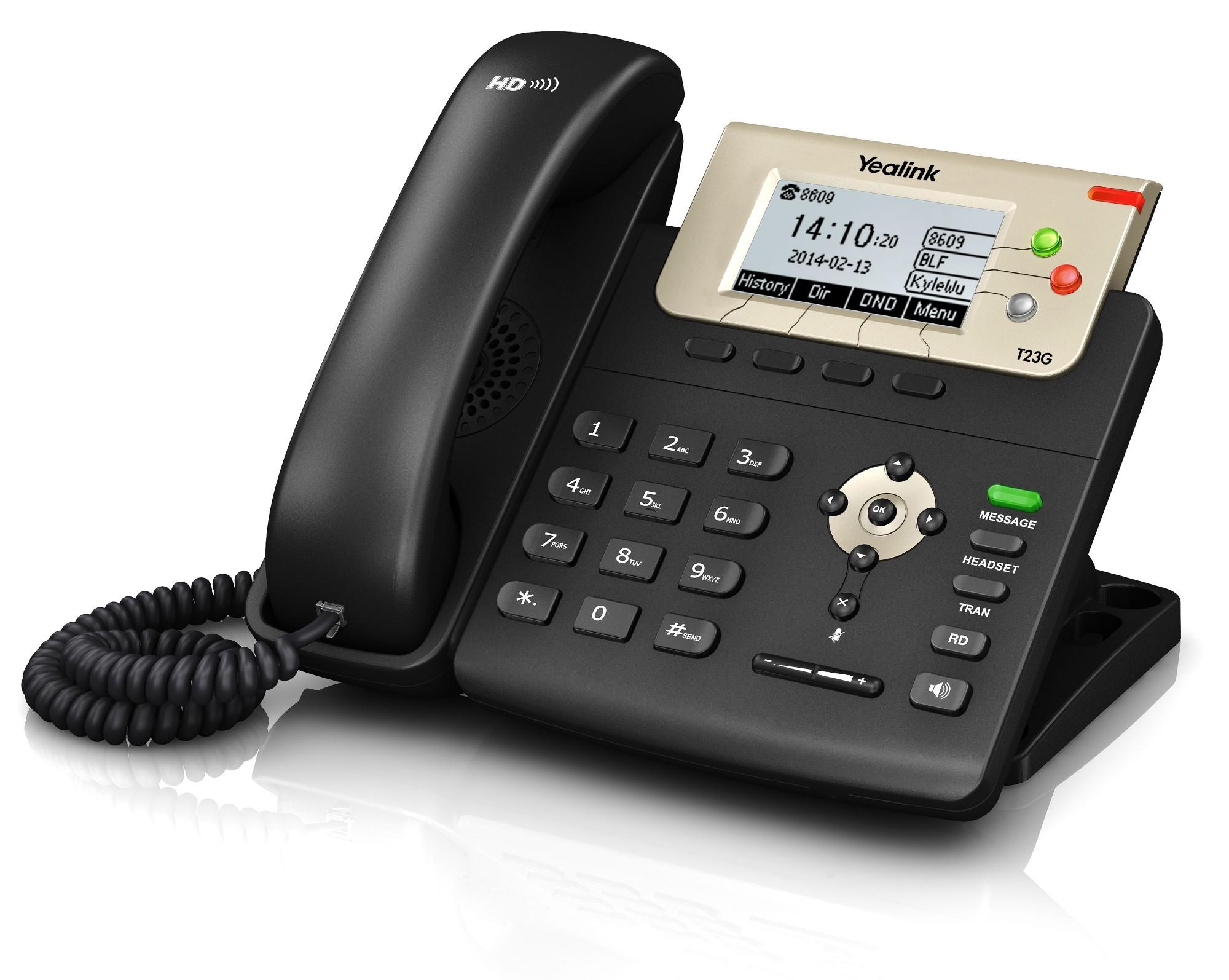Yealink SIP-T23G IP phone Black Wired handset LCD