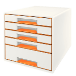 Leitz Wow Cube Rubber Orange,White desk drawer organizer