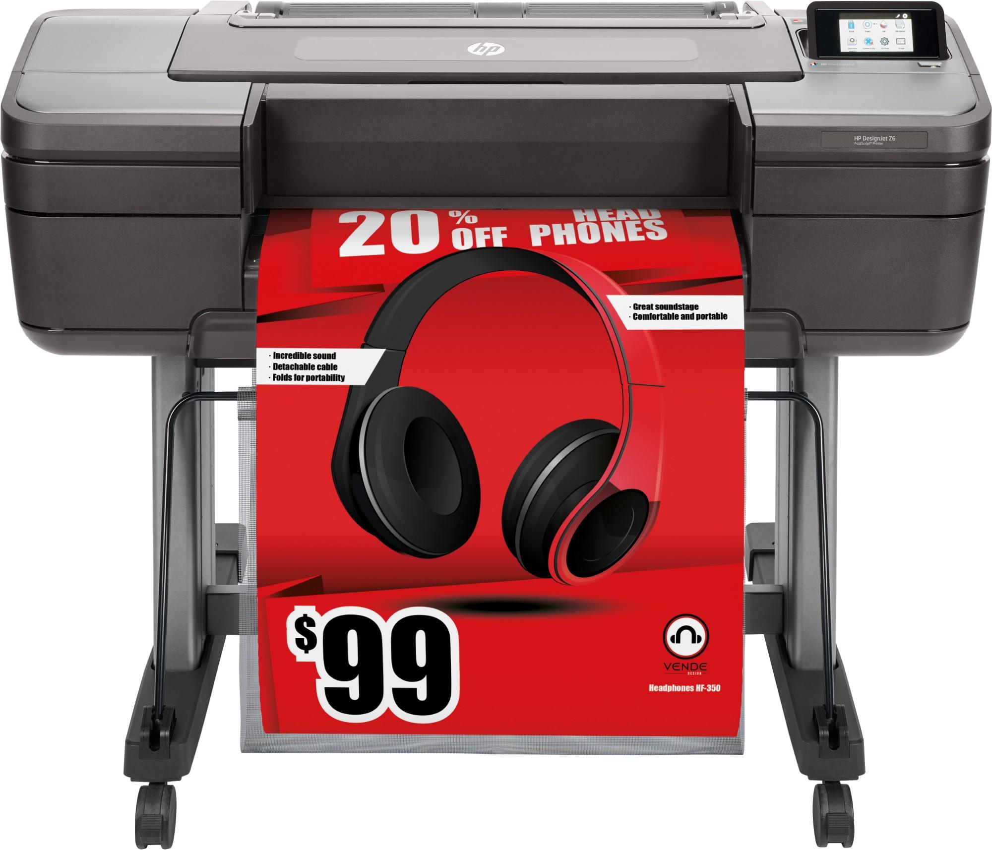 HP Designjet Z6 large format printer Inkjet Colour 2400 x 1200 DPI A1 (594 x 841 mm)
