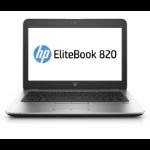 """HP EliteBook 820 G3 2.5GHz i7-6500U 12.5"""" 1920 x 1080Pixels 4G Zilver Ultrabook"""
