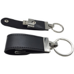 MicroMemory Leather USB2.0 4GB Black