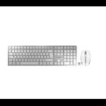 CHERRY DW 9000 SLIM, Wireless Keyboard & Mouse Set (RF/Bluetooth), Silver/White, USB (AZERTY - FR)