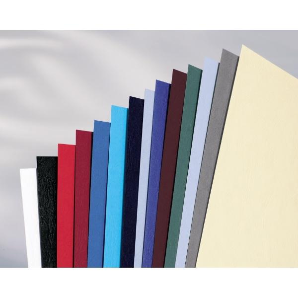 GBC LeatherGrain Binding Covers 250gsm A4 Dark Grey (100)