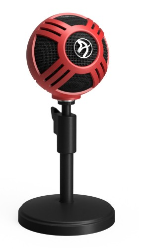 Arozzi Sfera Table microphone Wired Black, Red