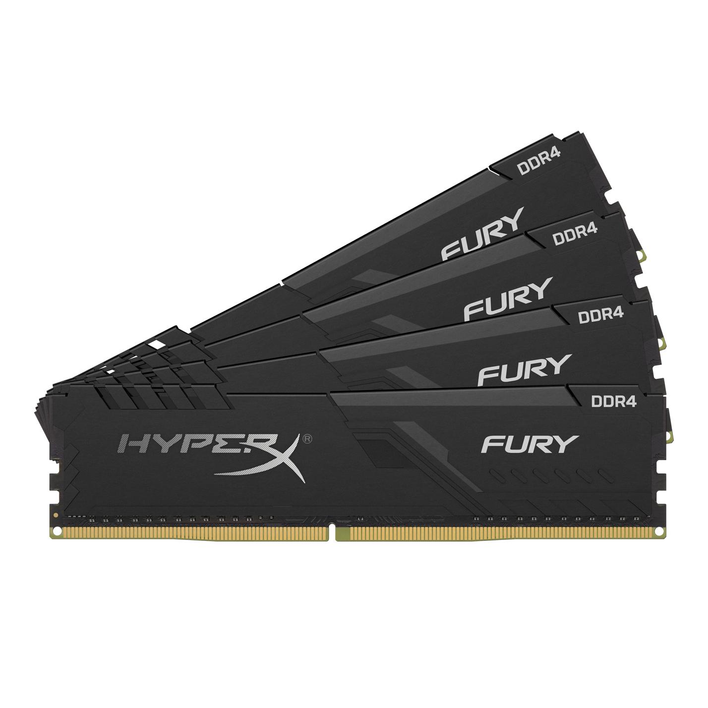 HyperX FURY HX424C15FB3K4/32 memory module 32 GB DDR4 2400 MHz