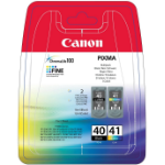 Canon PG-40/CL-41 Original Negro, Cian, Magenta, Amarillo 2 pieza(s)