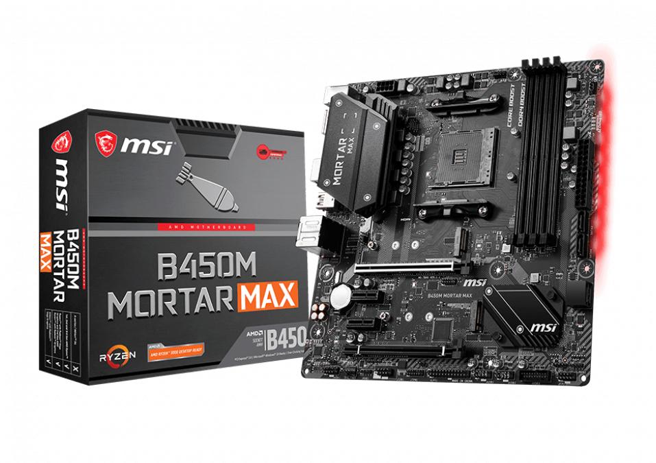 MSI B450M Mortar Max Zócalo AM4 micro ATX AMD B450