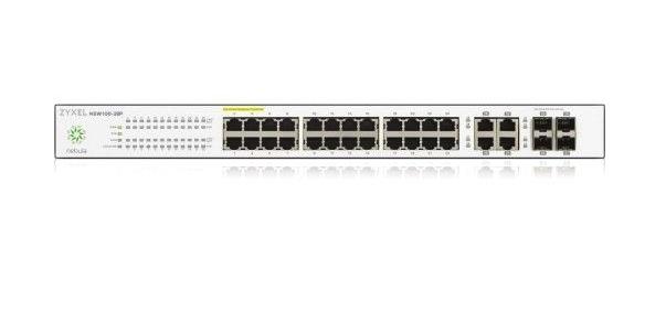 ZyXEL NSW100-28 Managed L2 Gigabit Ethernet (10/100/1000) Black, Grey
